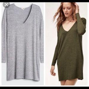 Aritzia Wilfred free Gail dress size xs in gray